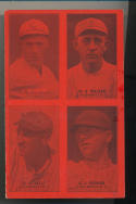 1931 Exhibit Four in One baseball card Cincinnati Reds