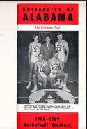 1968 - 1969 Unversity of Alabama Basketball press Media guide