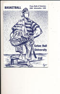 1968 - 1969 Seton Hall Basketball press Media guide