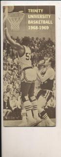 1968 - 1969 Trinity University Basketball press Media guide
