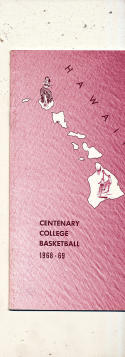 1968 - 1969 Centenary college  Basketball press Media guide