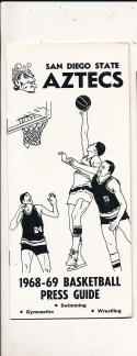 1968 - 1969 San Diego State Basketball press Media guide