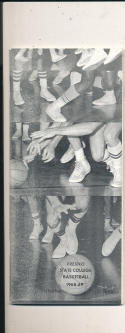 1968 - 1969 Fresno State College Basketball press Media guide