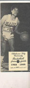 1968 - 1969 Oklahoma City Basketball press Media guide