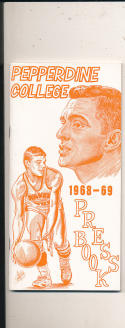 1968 - 1969 Pepperdine College Basketball press Media guide