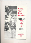 1968 - 1969 Austin Peay State university Basketball press Media guide