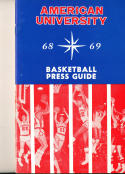 1968 - 1969 American University Basketball press Media guide