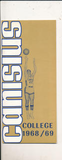 1968 - 1969 Canisius College Basketball press Media guide