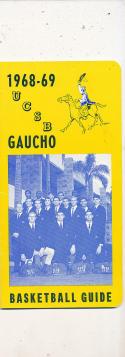 1968 - 1969 UCSB Santa Barbara Basketball press Media guide