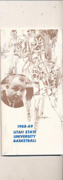 1968 - 1969 Utah State Basketball press Media guide