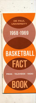 1968 - 1969 De Paul University Basketball press Media guide
