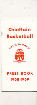 1968 - 1969 Seattle University Basketball press Media guide