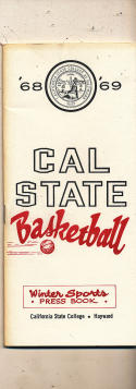 1968 - 1969 Cal State Hayward Basketball Basketball press Media guide