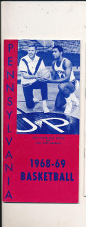 1968 - 1969 Pennsylvania Basketball press Media guide