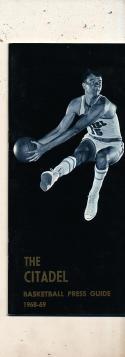 1968 - 1969 The citadel Basketball press Media guide