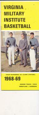 1968 - 1969 Virginia Military Institute VMI  Basketball press Media guide