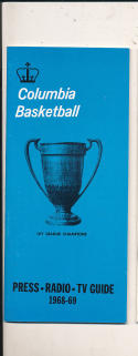 1968 - 1969 Columbia Basketball press Media guide