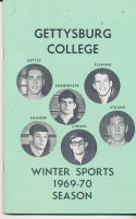 1969 - 1970 Gettysburg Basketball press Media guide - bx69