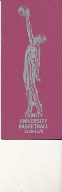 1969 - 1970 Trinity Basketball press Media guide - bx69