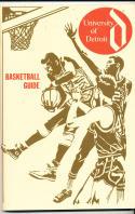 1969 - 1970 Detroit Basketball press Media guide - bx69