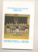 1969 - 1970 East Tennessee state Basketball press Media guide - bx69