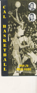 1969 - 1970 California Basketball press Media guide - bx69
