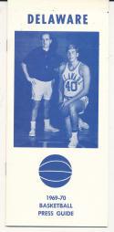 1969 - 1970 Delaware Basketball press Media guide - bx69