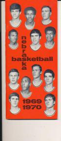 1969 - 1970 Nebraska University Basketball press Media guide - bx69