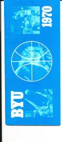 1969 - 1970 byu Basketball press Media guide - bx69