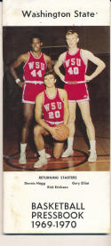 1969 - 1970 Washington State Basketball press Media guide - bx69