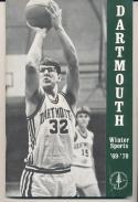 1969 - 1970 Dartmouth Basketball press Media guide - bx69