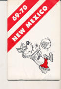 1969 - 1970 New Mexico College Basketball press Media guide - bx69