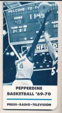 1969 - 1970 Pepperdine Basketball press Media guide - bx69