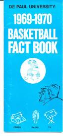 1969 - 1970 De Paul Basketball press Media guide - bx69
