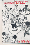 1969 - 1970 Cincinnati Basketball press Media guide - bx69