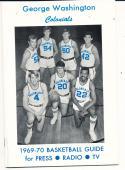 1969 - 1970 George Washington Basketball press Media guide - bx69