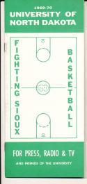 1969 - 1970 North Dakota Basketball press Media guide - bx69