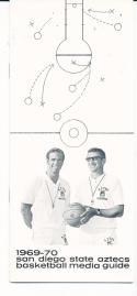 1969 - 1970 San Diego State Basketball press Media guide - bx69