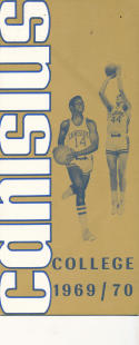 1969 - 1970 Canisius Basketball press Media guide - bx69