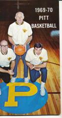1969 - 1970 Pitt Basketball press Media guide - bx69