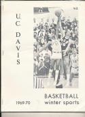 1969 - 1970 UC Davis University Basketball press Media guide bx69