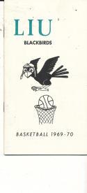 1969 - 1970 LIU long Island new york Basketball press Media guide - bx69