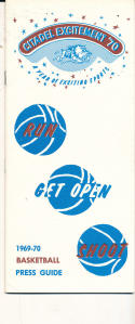 1969 - 1970 Citadel Basketball press Media guide - bx69