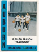 1969 - 1970 Auburn Basketball press Media guide - bx69