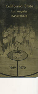 1969 - 1970 Cal State Los Angeles Basketball press Media guide - bx69