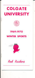 1969 - 1970 Colgate hockey Basketball press Media guide - bx69