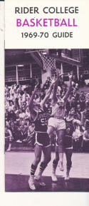 1969 - 1970 Rider College Basketball press Media guide - bx69