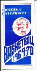 1969 - 1970 Gonzaga University Basketball press Media guide - bx69