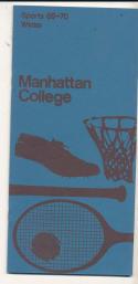 1969 - 1970 Manhattan College Basketball press Media guide - bx69