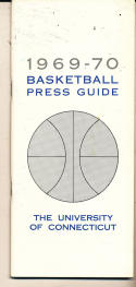 1969 - 1970 Connecticut Basketball press Media guide - bx69